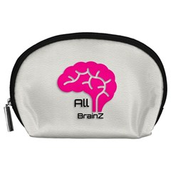All Brains Leather  Accessory Pouch (large) by OCDesignss