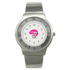 All Brains Leather  Stainless Steel Watch (slim) by OCDesignss
