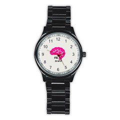 All Brains Leather  Sport Metal Watch (black)