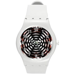 Zombie Apocalypse Warning Sign Plastic Sport Watch (medium) by StuffOrSomething