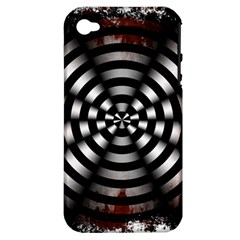 Zombie Apocalypse Warning Sign Apple Iphone 4/4s Hardshell Case (pc+silicone) by StuffOrSomething