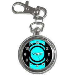 Turquoise Lines Vape   Key Chain Watch by OCDesignss