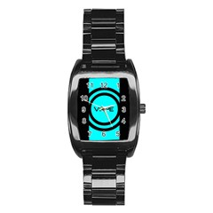 Turquoise Lines Vape   Stainless Steel Barrel Watch