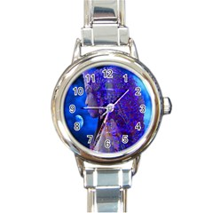 Moon Shadow Round Italian Charm Watch by icarusismartdesigns