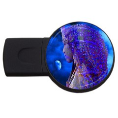 Moon Shadow 2gb Usb Flash Drive (round) by icarusismartdesigns