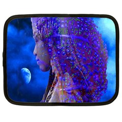 Moon Shadow Netbook Sleeve (large) by icarusismartdesigns