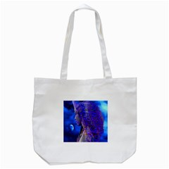 Moon Shadow Tote Bag (white) by icarusismartdesigns