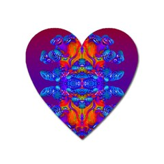 Abstract Reflections Magnet (heart) by icarusismartdesigns