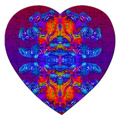Abstract Reflections Jigsaw Puzzle (heart) by icarusismartdesigns