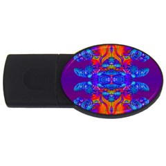 Abstract Reflections 4gb Usb Flash Drive (oval) by icarusismartdesigns