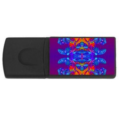 Abstract Reflections 4gb Usb Flash Drive (rectangle) by icarusismartdesigns