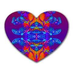 Abstract Reflections Mouse Pad (heart) by icarusismartdesigns