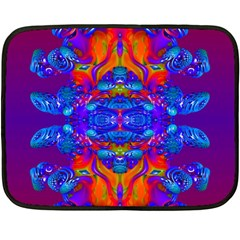 Abstract Reflections Mini Fleece Blanket (two Sided) by icarusismartdesigns