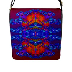 Abstract Reflections Flap Closure Messenger Bag (large) by icarusismartdesigns