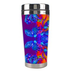 Abstract Reflections Stainless Steel Travel Tumbler by icarusismartdesigns
