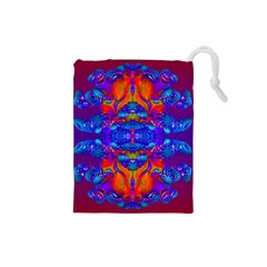 Abstract Reflections Drawstring Pouch (small) by icarusismartdesigns