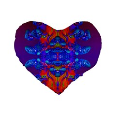 Abstract Reflections Standard Flano Heart Shape Cushion  by icarusismartdesigns