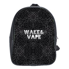 Wake&vape Leopard  School Bag (large) by OCDesignss