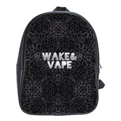 Wake&vape Leopard  School Bag (xl) by OCDesignss