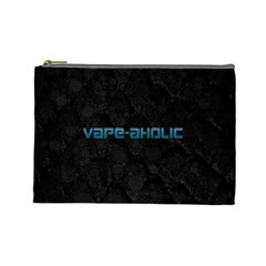 Vape Aholic Turquoise  Cosmetic Bag (large) by OCDesignss