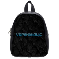 Vape Aholic Turquoise  School Bag (small) by OCDesignss