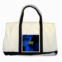 Wake&vape Blue Smoke  Two Toned Tote Bag by OCDesignss