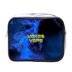 Wake&vape Blue Smoke  Mini Travel Toiletry Bag (one Side) by OCDesignss