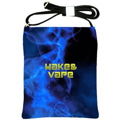 Wake&vape Blue Smoke  Shoulder Sling Bag