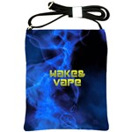 Wake&vape Blue Smoke  Shoulder Sling Bag Front