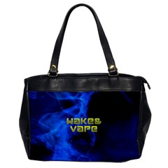 Wake&vape Blue Smoke  Oversize Office Handbag (one Side) by OCDesignss