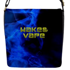 Wake&vape Blue Smoke  Flap Closure Messenger Bag (small) by OCDesignss