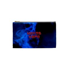 Wake&vape Blue Smoke  Cosmetic Bag (small) by OCDesignss