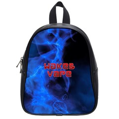 Wake&vape Blue Smoke  School Bag (small) by OCDesignss
