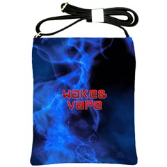 Wake&vape Blue Smoke  Shoulder Sling Bag by OCDesignss