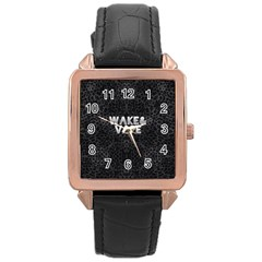 Wake&vape Leopard  Rose Gold Leather Watch
