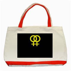 Girl<3 Girl  Classic Tote Bag (red)