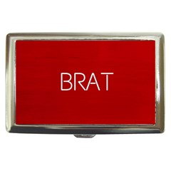 Brat Red Cigarette Money Case by OCDesignss