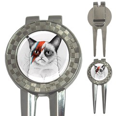 Grumpy Bowie Golf Pitchfork & Ball Marker