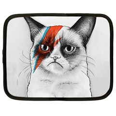 Grumpy Bowie Netbook Sleeve (large) by Olechka