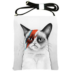 Grumpy Bowie Shoulder Sling Bag by Olechka