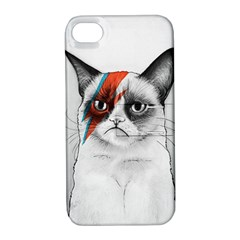 Grumpy Bowie Apple Iphone 4/4s Hardshell Case With Stand by Olechka