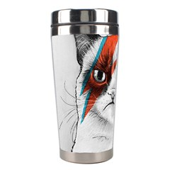 Grumpy Bowie Stainless Steel Travel Tumbler by Olechka