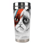 Grumpy Bowie Stainless Steel Travel Tumbler Center