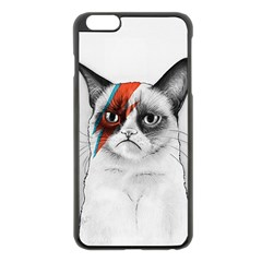 Grumpy Bowie Apple Iphone 6 Plus Black Enamel Case by Olechka