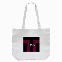 Pink Diva  Tote Bag (white) by OCDesignss