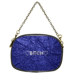 Blue Bit?h Chain Purse (two Sided)