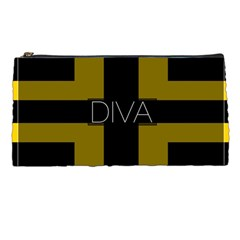Diva Yellow Black  Pencil Case by OCDesignss