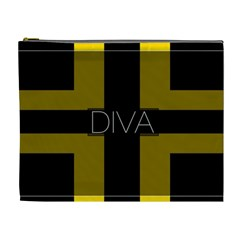 Diva Yellow Black  Cosmetic Bag (xl) by OCDesignss