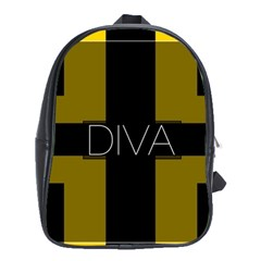 Diva Yellow Black  School Bag (xl)