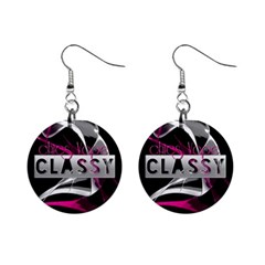 Classy Chics Vape Pink Smoke  Mini Button Earrings